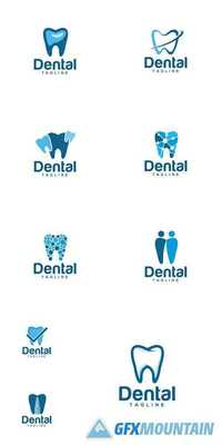 Dental Creative Logo Design Vector