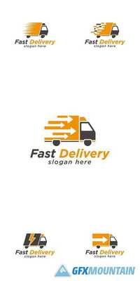 Truck Fast Delivery Logo Design