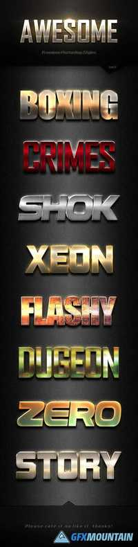 GraphicRiver - Awesome Photoshop Text Effects Vol.2 18224632