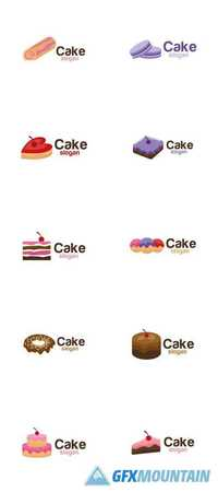 Cake Icon Logo Design Vector
