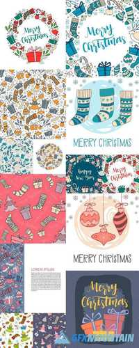 Christmas Elements - Hand Drawn Winter Holiday Symbols