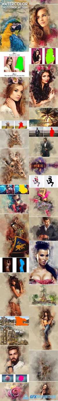 GraphicRiver - Watercolor Photoshop Action 18998392