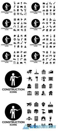 Construction and Tools Icons Set