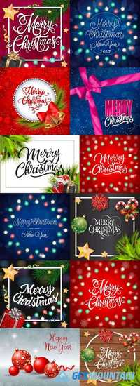 Happy New Year & Merry Christmas Backgrounds