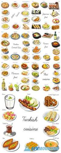 Collection of Food Dishes