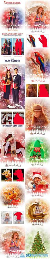 GraphicRiver - Christmas Photoshop Action 19070880