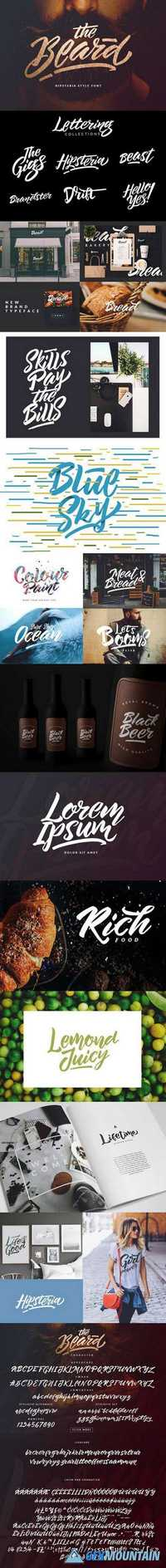 The Beard - Branded Typeface + Extras