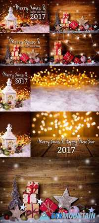 Merry Xmas and Happy New Year 2017 Background