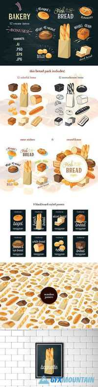 Bakery assortment vector pack 1038387