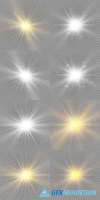 Glow Light Effect - Star Burst with Sparkles