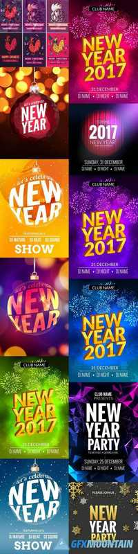 Happy New Year Festive Flyer Design Template