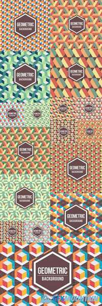 Abstract Geometric Background - Retro Pattern