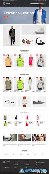 Pureshop – Fashion eCommerce Bootstrap Template