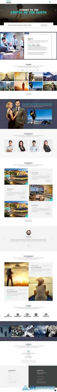 Tour Pagla – Travel Bootstrap Landing Page Template