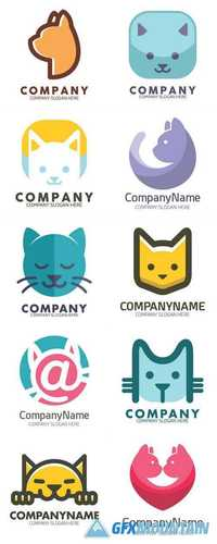 Cat Icon Logo Template