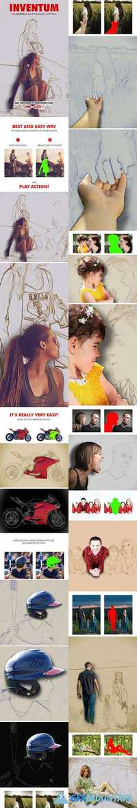 GraphicRiver - Inventum - 3D Sketch Photoshop Action 19201944