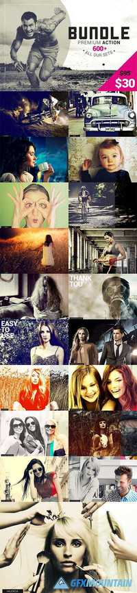 600+ Premium Photoshop Actions 1040428