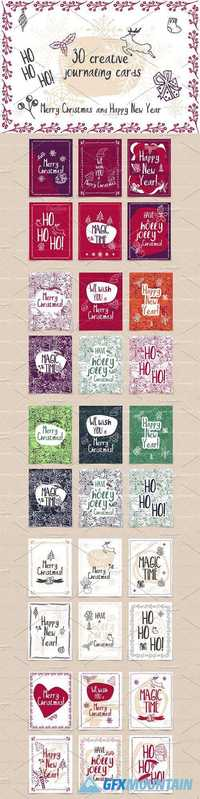 Set of 30 creative journaling cards 1131539