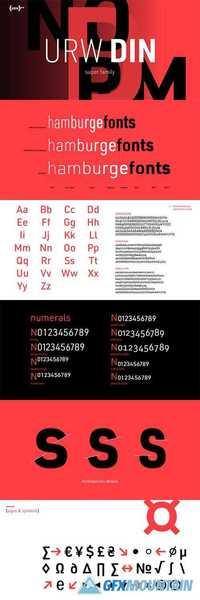 URW DIN Font Family » Free Download Graphics, Fonts, Vectors