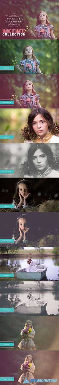 Pretty Presets - Make It Matte Collection Lightroom Presets