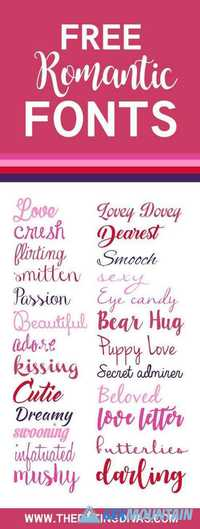 Romantic Fonts Big 000017