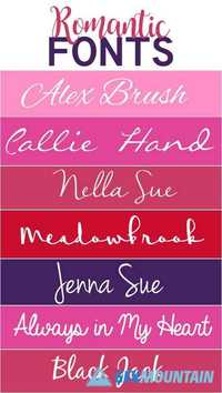 Romantic Fonts 4