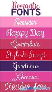 Romantic Fonts 2