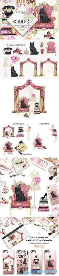 Boudoir Clip Art Vintage Fashion 1175452