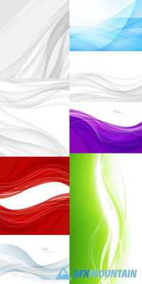 Abstract Backgrounds with Waves