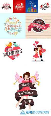 Modern Romantic Happy Valentine Card