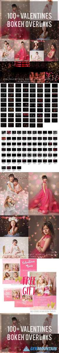Bundle 100+ Valentine Bokeh Overlays 1174557