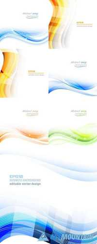 Abstract Wavy Business Vector Background or Banner