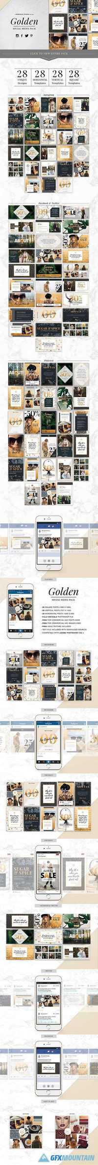 GOLDEN Theme | Social Media Pack 1032915