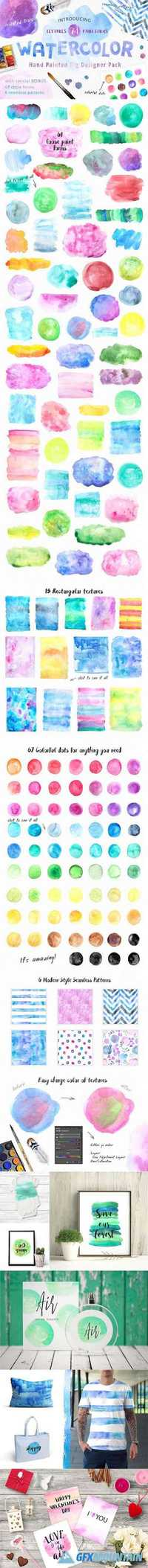 Big Watercolor Textures Pack 1214987