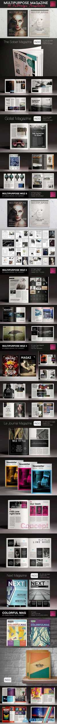 10 Magazine Brochure Templates Pack 787245