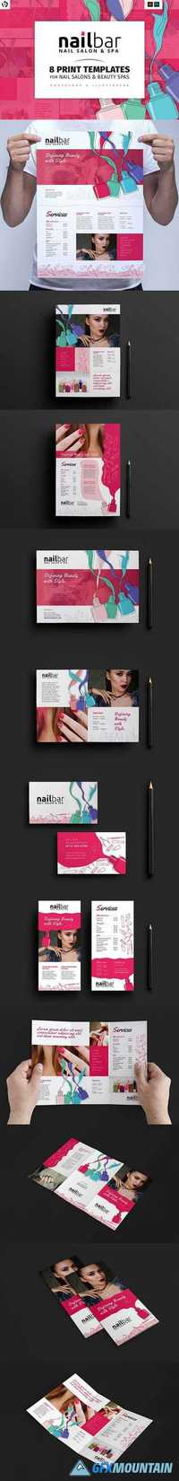 Nail Bar Templates Pack 1205359