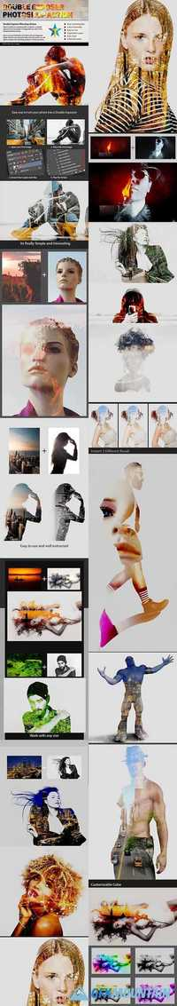 Graphicriver Double Exposure Photoshop Action 19442510