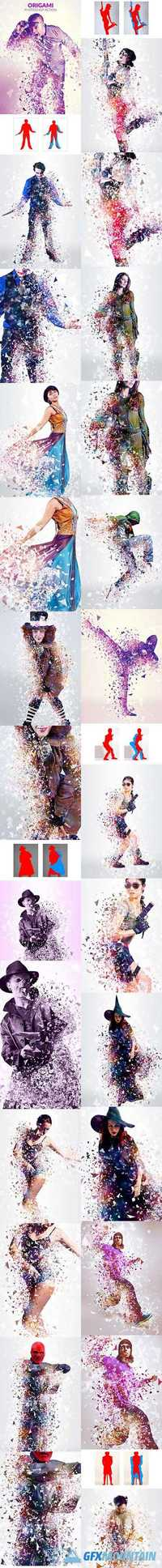 Graphicriver Origami Photoshop Action 19433377