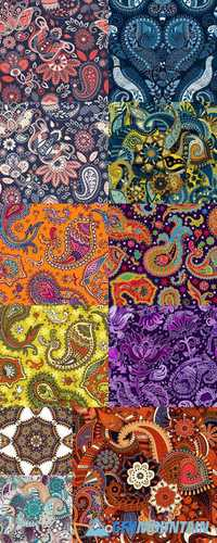 Colorful Paisley Seamless Pattern