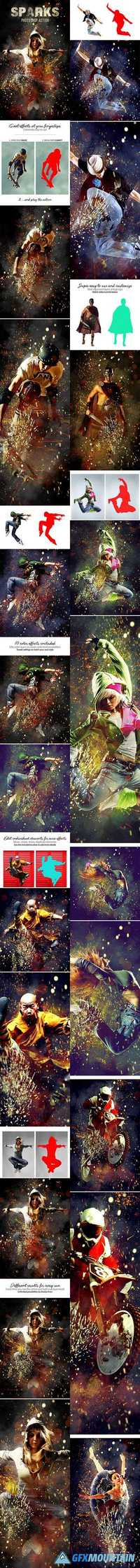 GraphicRiver - Sparks Photoshop Action - 19420143