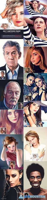 Graphicriver Oily Cartoon Paint Action 19453435