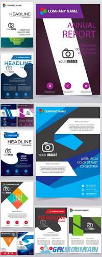 Vector Modern Brochure - Annual Report - Design Templates