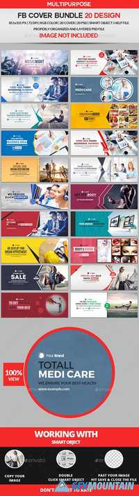 Graphicriver Facebook Cover Bundle Two - 20 Design 19459700