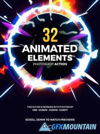 Graphicriver 32 Animated Effects Action 19497071