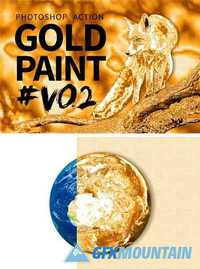 Gold Paint Photo Effect V02 1277295