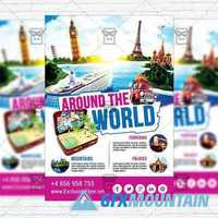 Around the World - Flyer Template