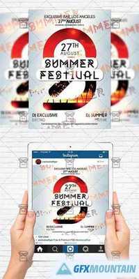 summer festival flyer template instagram size flyer free download graphics fonts vectors. Black Bedroom Furniture Sets. Home Design Ideas