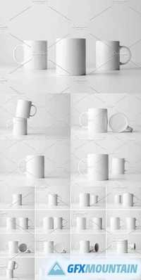 White Mug Mock-Up Stock Photo Bundle 1322209