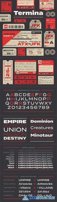 Termina Font Family » Free Download Graphics, Fonts, Vectors