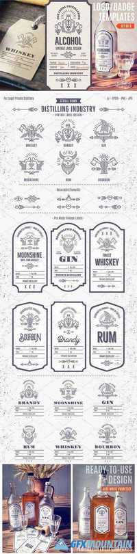 Distilling Industry: Vintage Labels - 1359791